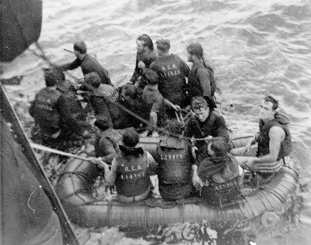 Survivors Of Hmcs Clayoquot Torpedoed By A German Submari