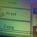 Photocopier screen display