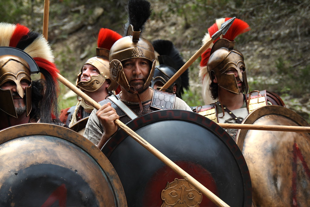 Spartan Phalanx 4, Hot Gates, Thermopylae 480 BC, Blood of a King Film Shoot