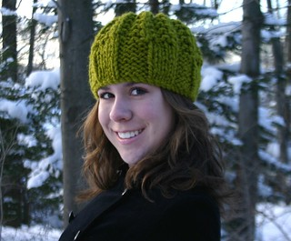 Chunky Knit Green Hat