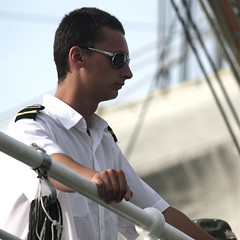 boston tall ships sailor sunglasses square portrait