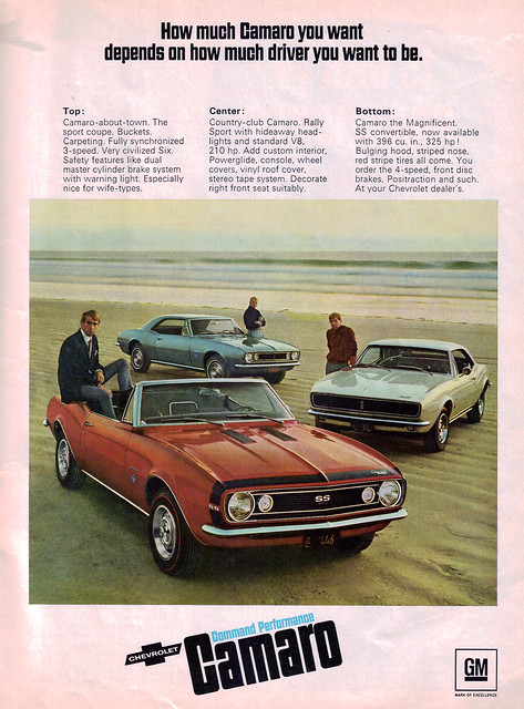 1967 Chevrolet Camaro Hardtop and Convertible