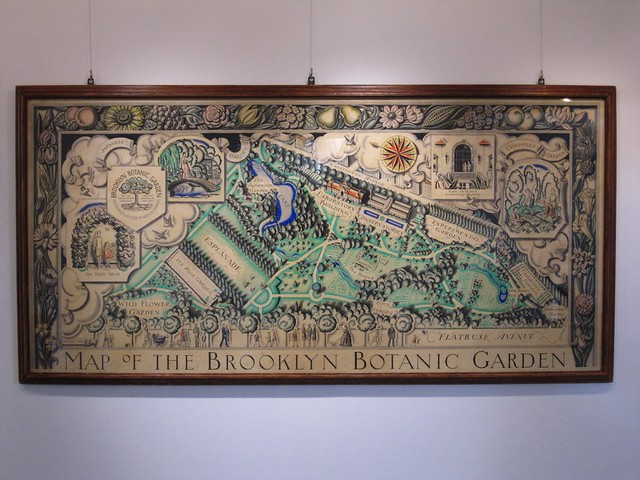 A map of BBG created in the 1920s.