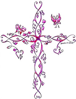 Cross Tattoo by Denise A. Wells
