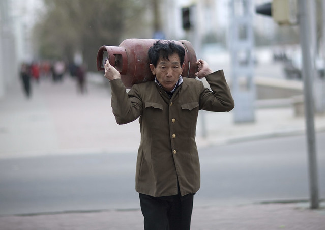 Pyongyang street scene - North Korea