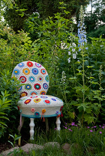 crochet chair cover