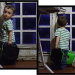 Mamma, io vado eh? / Mum, I'm ready to go!
