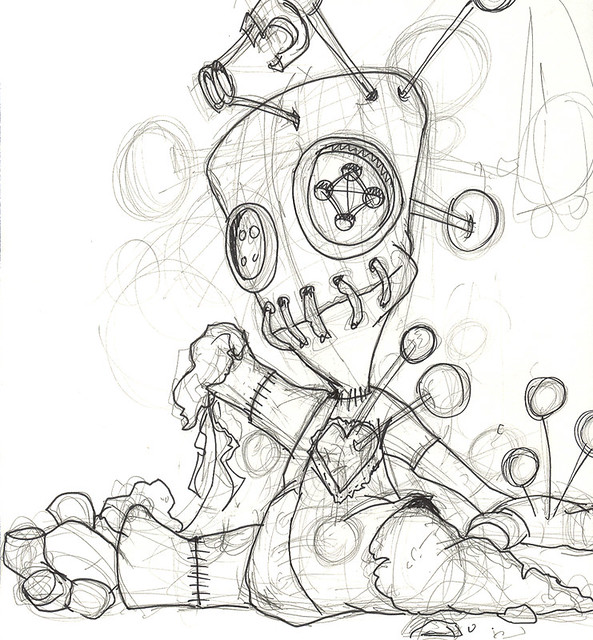 husky animator voodoo sketch