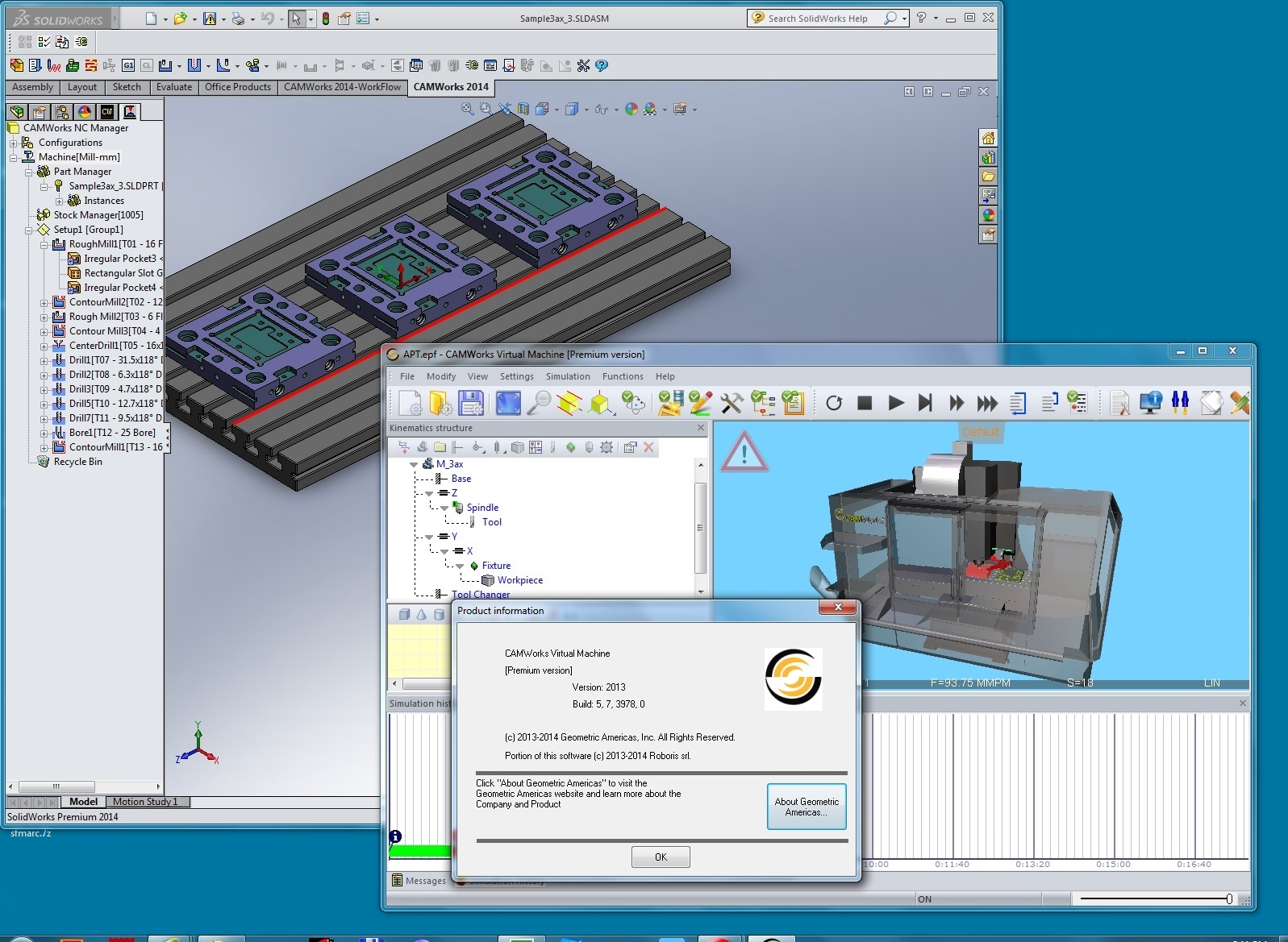 Simulation with CAMWorks Virtual Machine 2014
