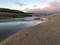 The sea rushes in/Carmel River Lagoon at sunrise