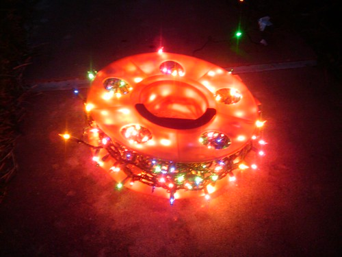 I am putting my christmas lights on spools for tangle-free storage.
