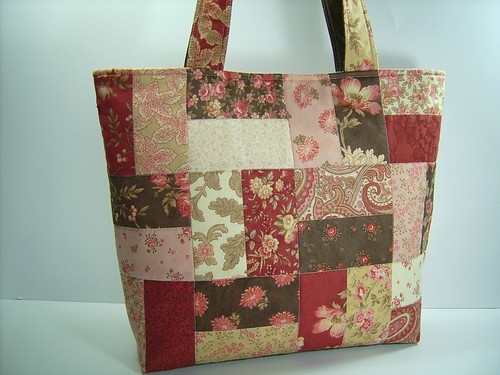 Aster Manor Quilted Tote Bag