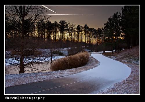 atlanta snow sunrise ga georgia frozen norcross tundra skytrails gwinnett skytrail nikon18200mmvr nikond90 pickneyvillepark