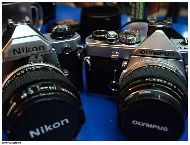 Film Camera - Nikon FM2 & Olympus OM-1