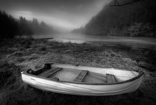 Loch Ard Dinghy, different angle, different processing