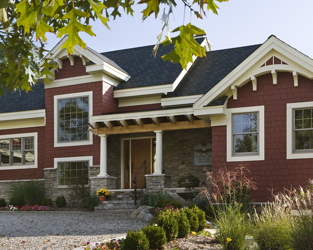 The lexington timber frame home exterior entrance for Timber frame exteriors
