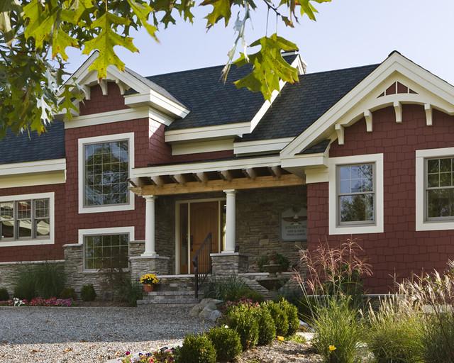 The Lexington Timber Frame Home Exterior Entrance