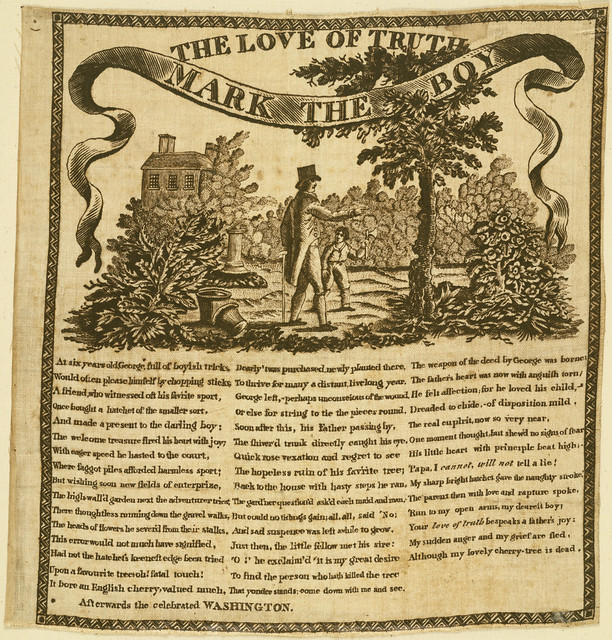 """Washington """"The Love of Truth Mark the Boy"""" Textile, ca. 1806 from Flickr via Wylio"""