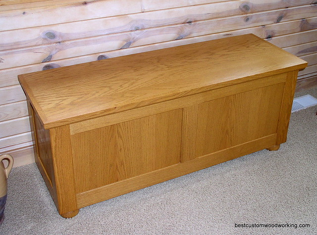 Hope Chests Wooden Handcrafted ~ Custom oak hope chest flickr photo sharing
