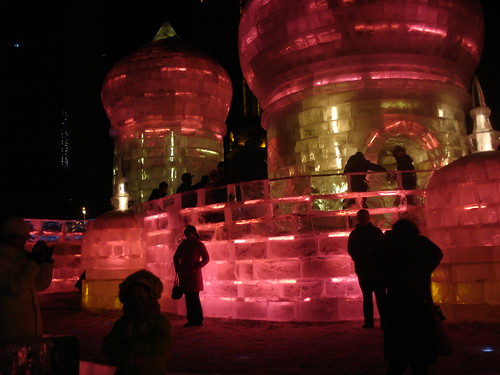 Disney Ice Castles, Igloos, Slides in China