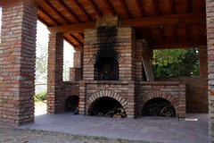 arch, masonry oven, wood, fireplace, brick, brickwork, hearth,