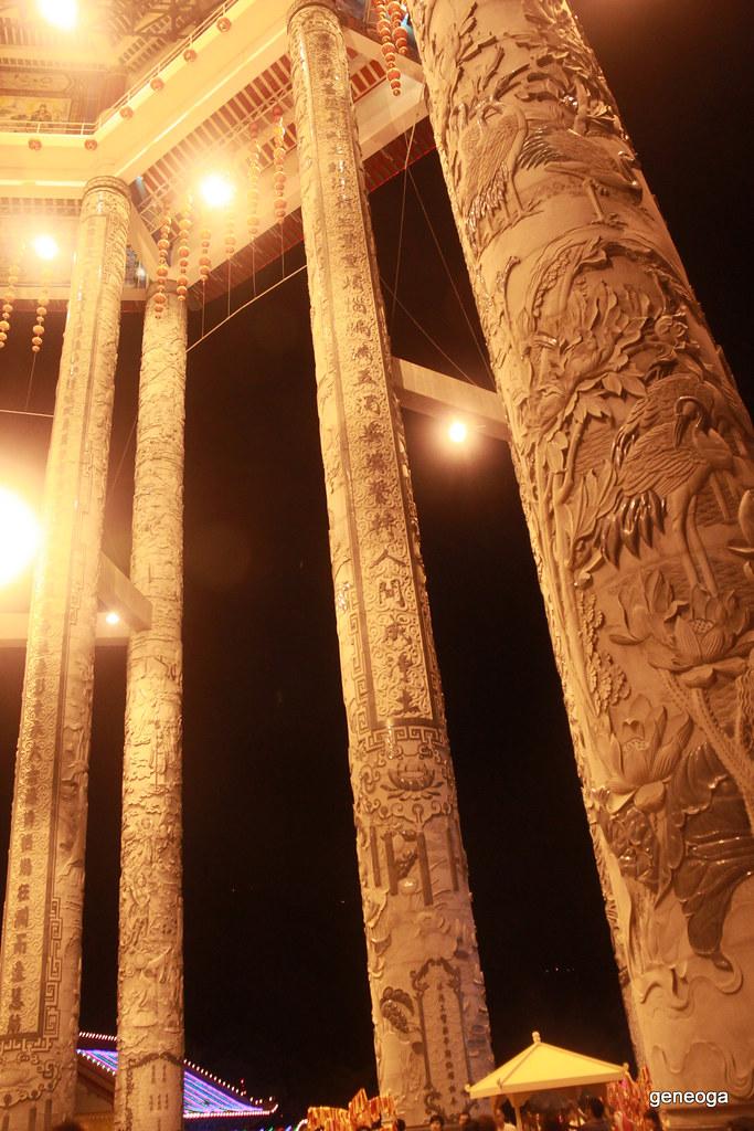 Carved dragon pillars
