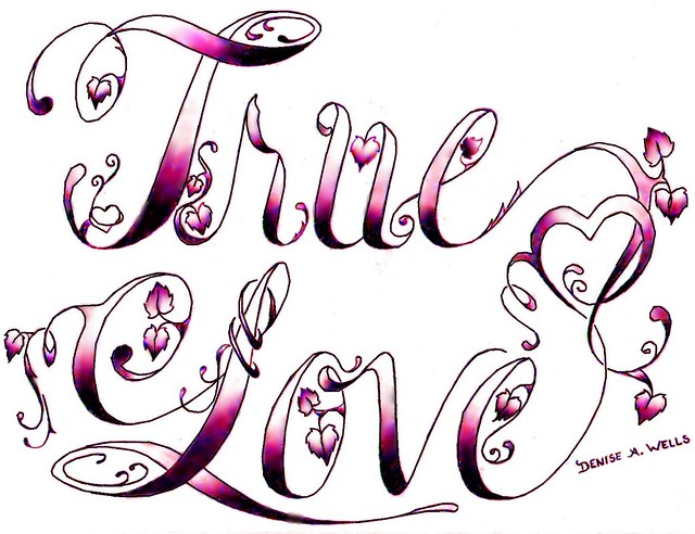 true love tattoo design by denise a wells flickr On love design pictures