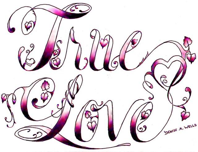 True Love Tattoo Designs