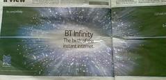 metro bt inifinity fibre broadband ad