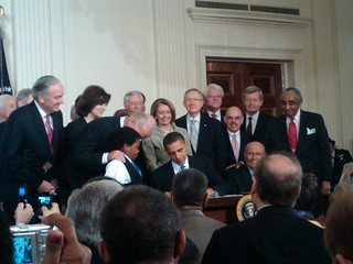 President Obama Signing The Health Care Bill