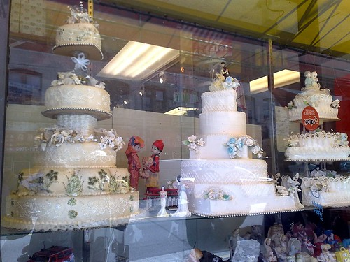 Wedding cakes in Chinatown
