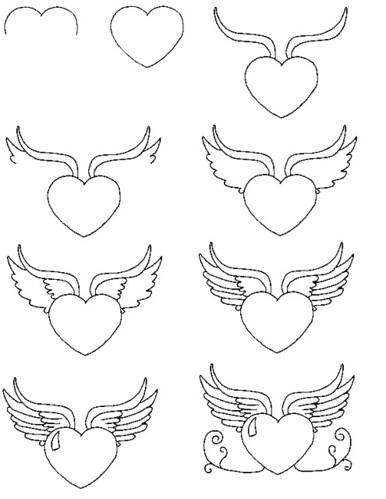 Hartje Met Vleugels Tekenen Flickr Photo Sharing