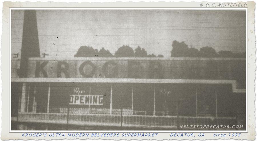 KROGER'S ULTRA MODERN BELVEDERE PLAZA SUPERMARKET  circa 1955 by -WHITEFIELD-