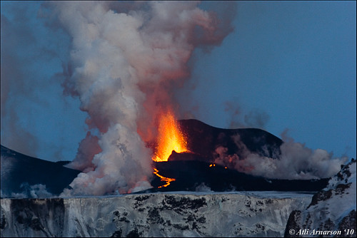 Eruption on Fimmvörðuháls