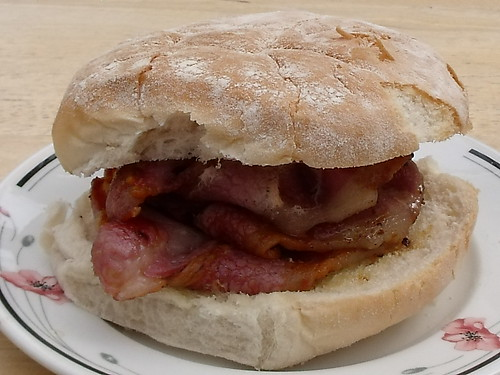 Now this is what I call a real bacon butty!