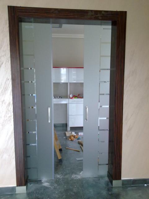 Cerrar hueco de paso entre cocina y comedor tema serio - Puerta corredera cristal bricomart ...
