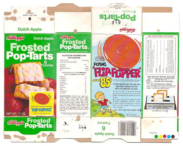 1975 Kellogg's Frosted Dutch Apple Pop-Tarts Box Flip-Flipper offer ...