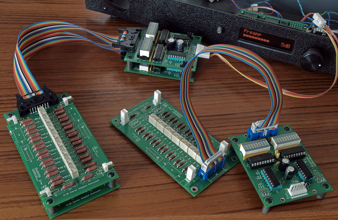 Audiophile preamp i o selector lcd ir relays
