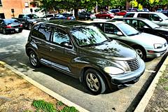 minivan(0.0), automobile(1.0), sport utility vehicle(1.0), wheel(1.0), vehicle(1.0), automotive design(1.0), chrysler pt cruiser(1.0), land vehicle(1.0), motor vehicle(1.0),