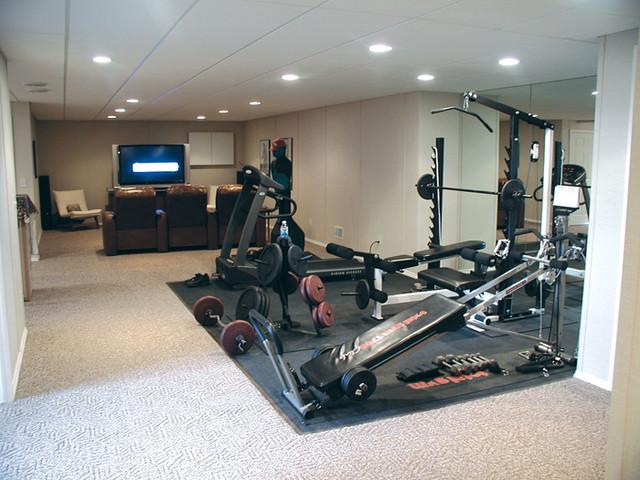 4577736271 25c7ecf377 for Basement home gym design ideas