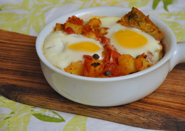 Eggs in Purgatory with Artichoke Hearts, Potatoes and Capers | Flickr ...
