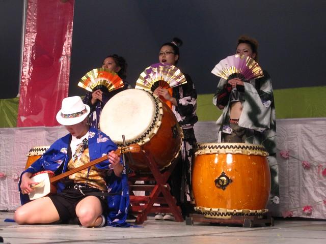 COBU perform during Sakura Matsuri 2010. Photo by Rebecca Bullene.
