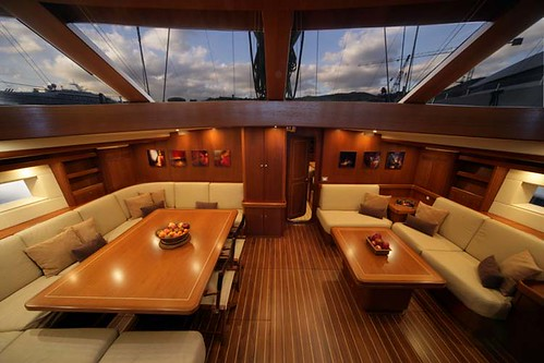 Sail yacht: two home theaters and 8 zones multiroom audio system