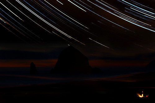 Sunset, Stars and Campfires at Cannon Beach | by jrmelot