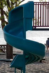 outdoor play equipment, leisure, playground slide, city, public space, playground, blue,