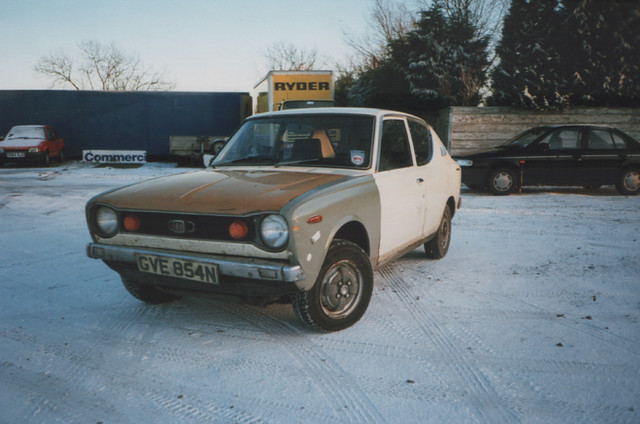 1975 Datsun 100A 2dr (E10) c.1995 | My friend Gary owned ...