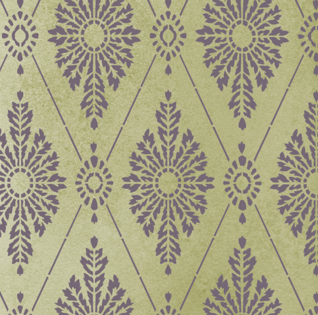 Damask stencil diamond wall pattern elegant wall stencils by damask stencil diamond wall pattern elegant wall stencils by cutting edge stencils amipublicfo Image collections