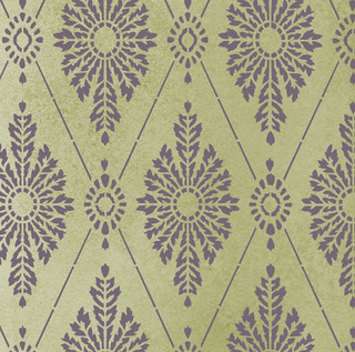 Damask Stencil. Diamond wall pattern. Elegant wall stencils by Cutting Edge Stencils