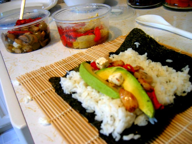 Home made sushi skip the fish