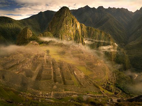 peru inca sunrise ruins machupicchu lostcity michaelanderson